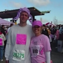 Sharyl and Brother Michael - Komen Race for the Cure
